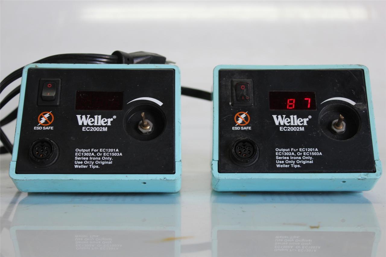 LOT OF 2 WELLER EC2002...