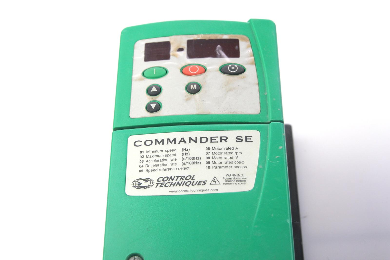 control techniques commander se manual