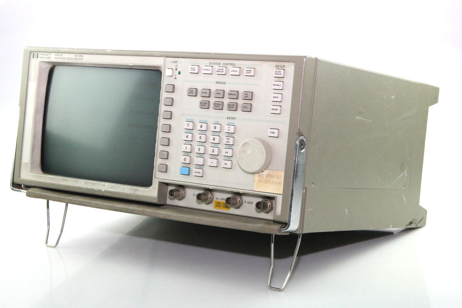 Hp Digital Oscilloscope : Hp a mhz channel digital oscilloscope ebay