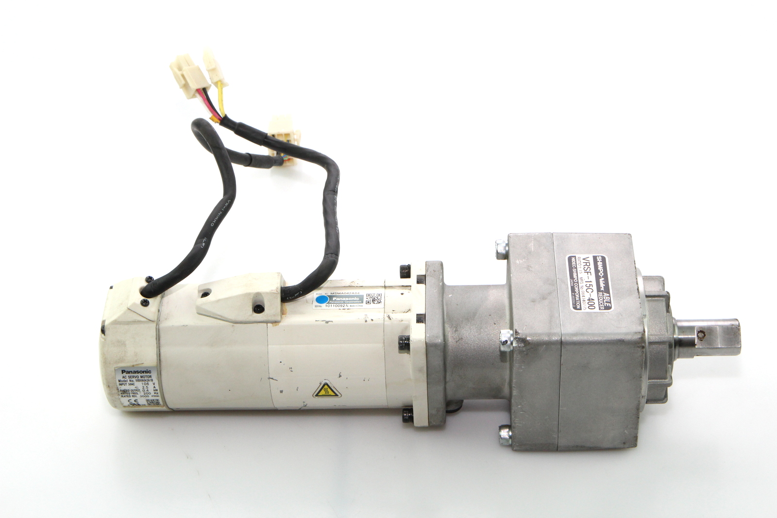 Panasonic Msma042a84 Servo Motor Assembly Vrsf 15c 400