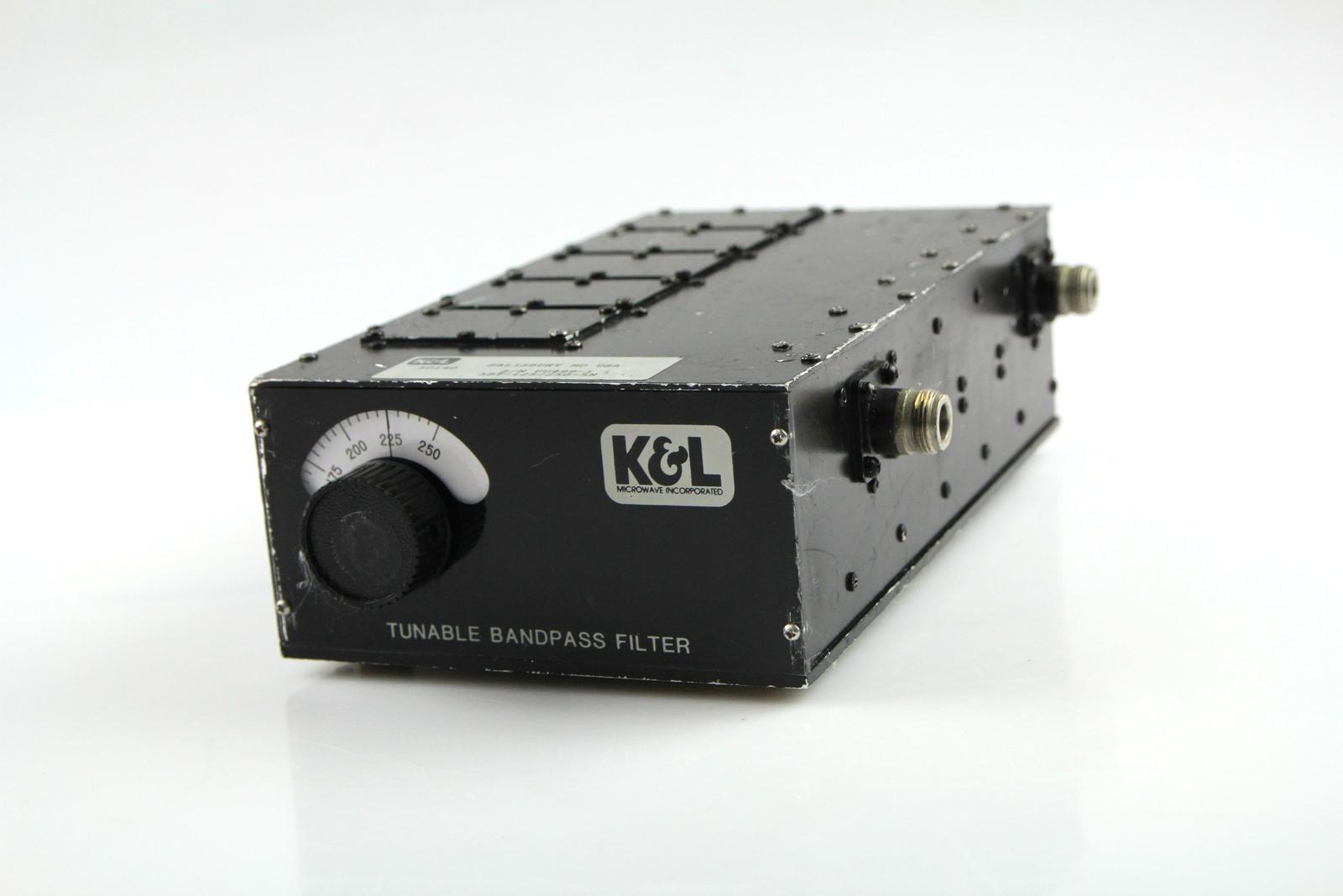 k l 5bt 125 225 5n tunable bandpass microwave filter 125 250 mhz ebay. Black Bedroom Furniture Sets. Home Design Ideas