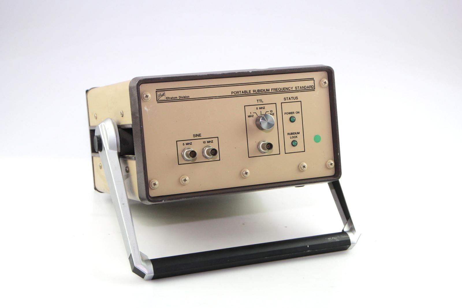 Surplus Electronic Test Equipment : Efratom prfs portable rubidium frequency standard
