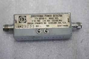 Coaxial Dynamics Directional Power Detector 3022 225-400MHz P/N 509146-12
