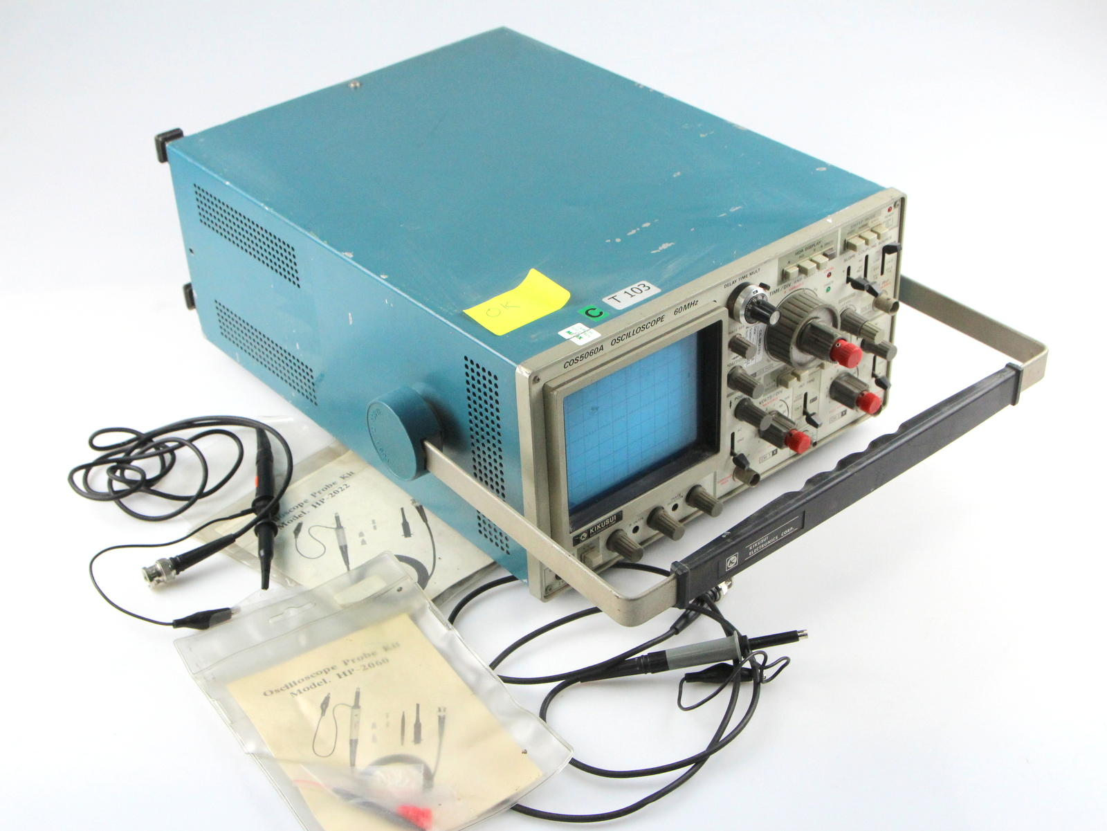 Surplus Electronic Test Equipment : Kikusui cos a oscilloscope mhz with probes hp