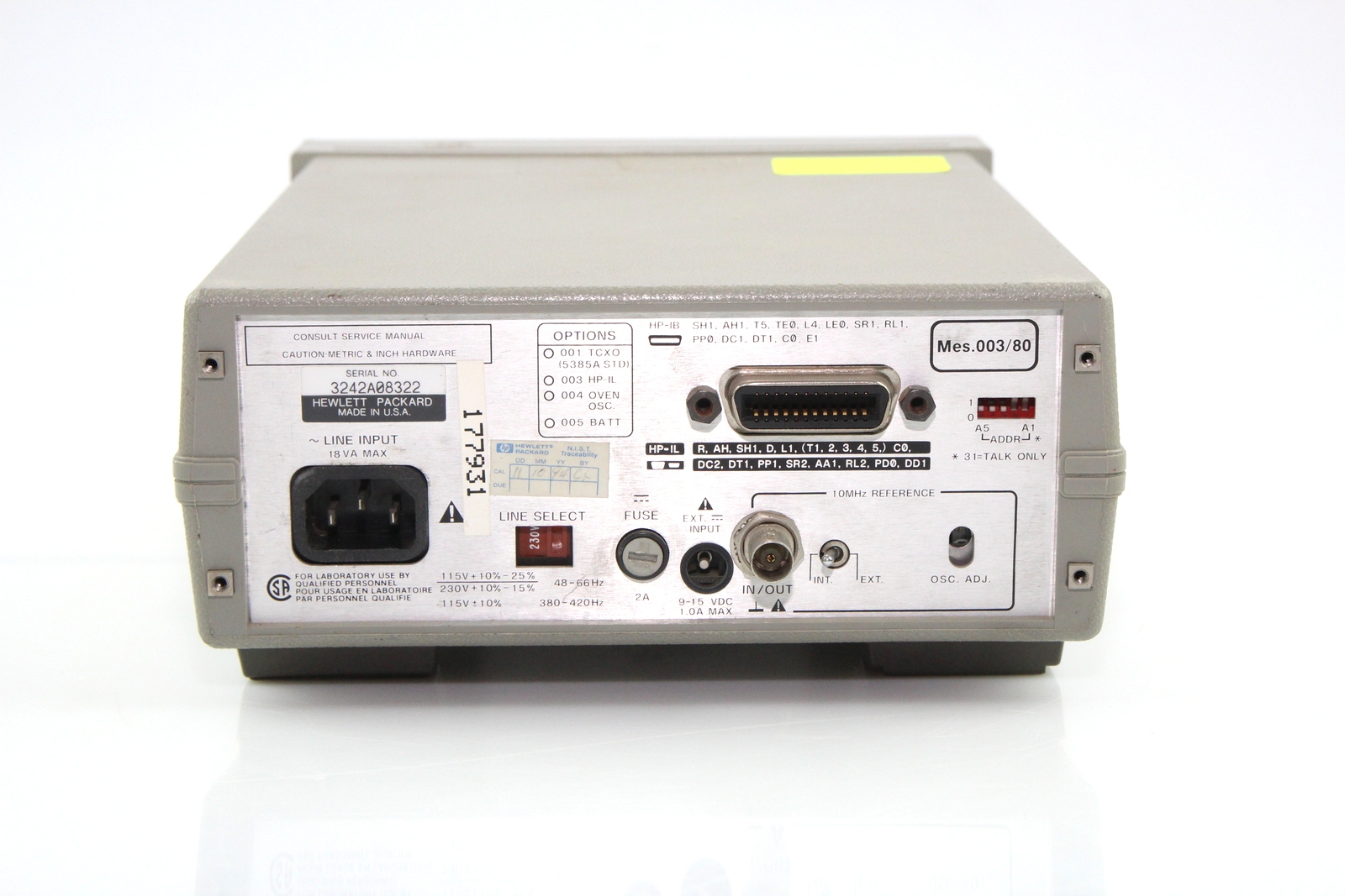 Hp 5385a Frequency Counter Manual Schematic For Sale Test Equipment Center