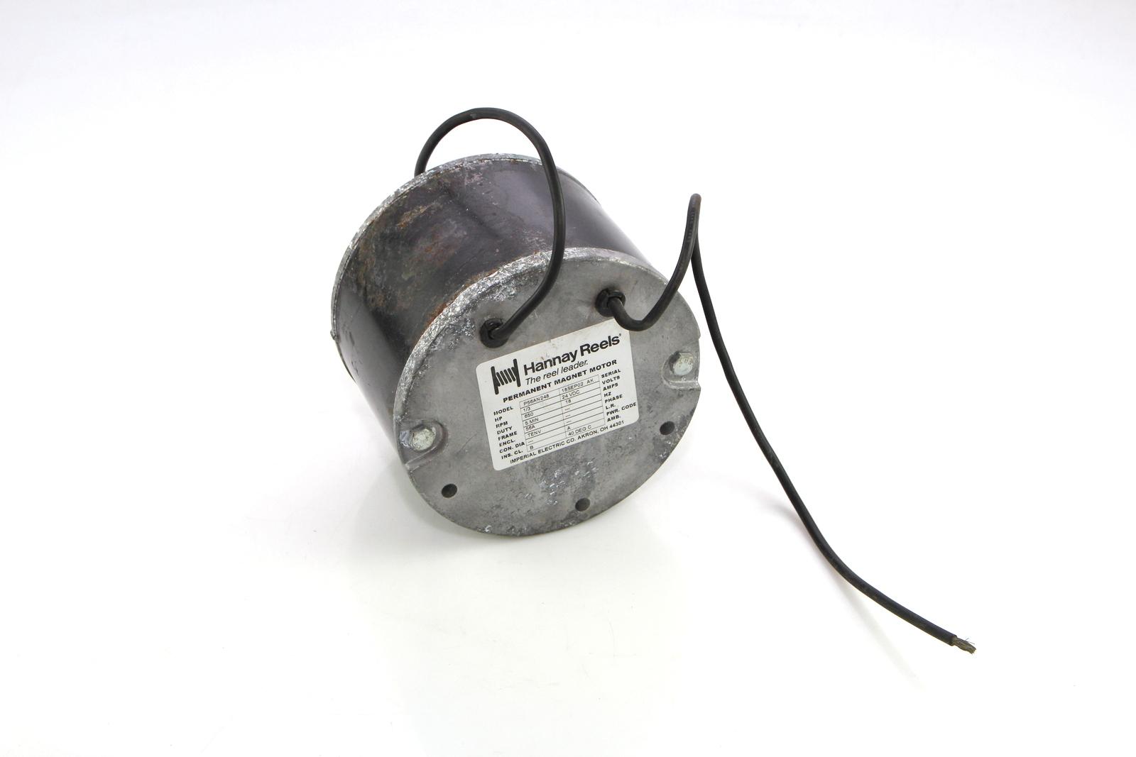 Hannay reels permanent magnet motor p56an248 650rpm 1 3hp for Ebay motors warehouse in billings montana