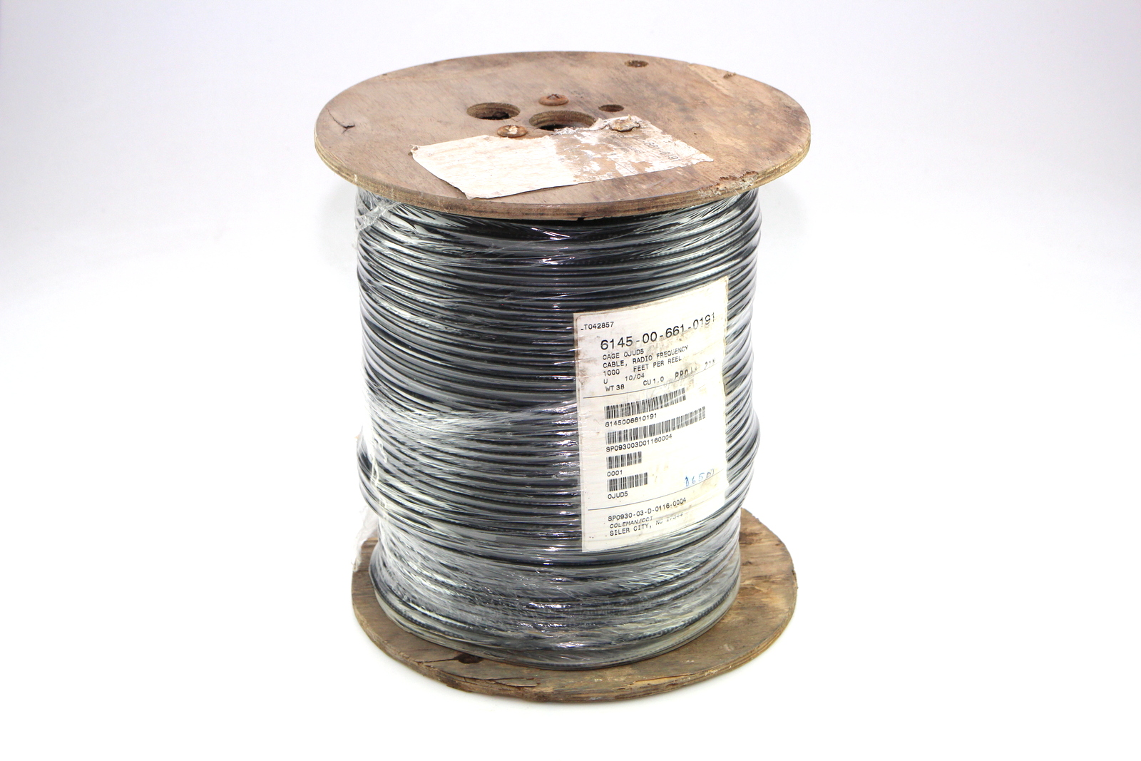 COLEMAN CABLE RF CABLE # M17/29-RG59 NSN: 6145-00-661-0191 ( 1000 FT ...