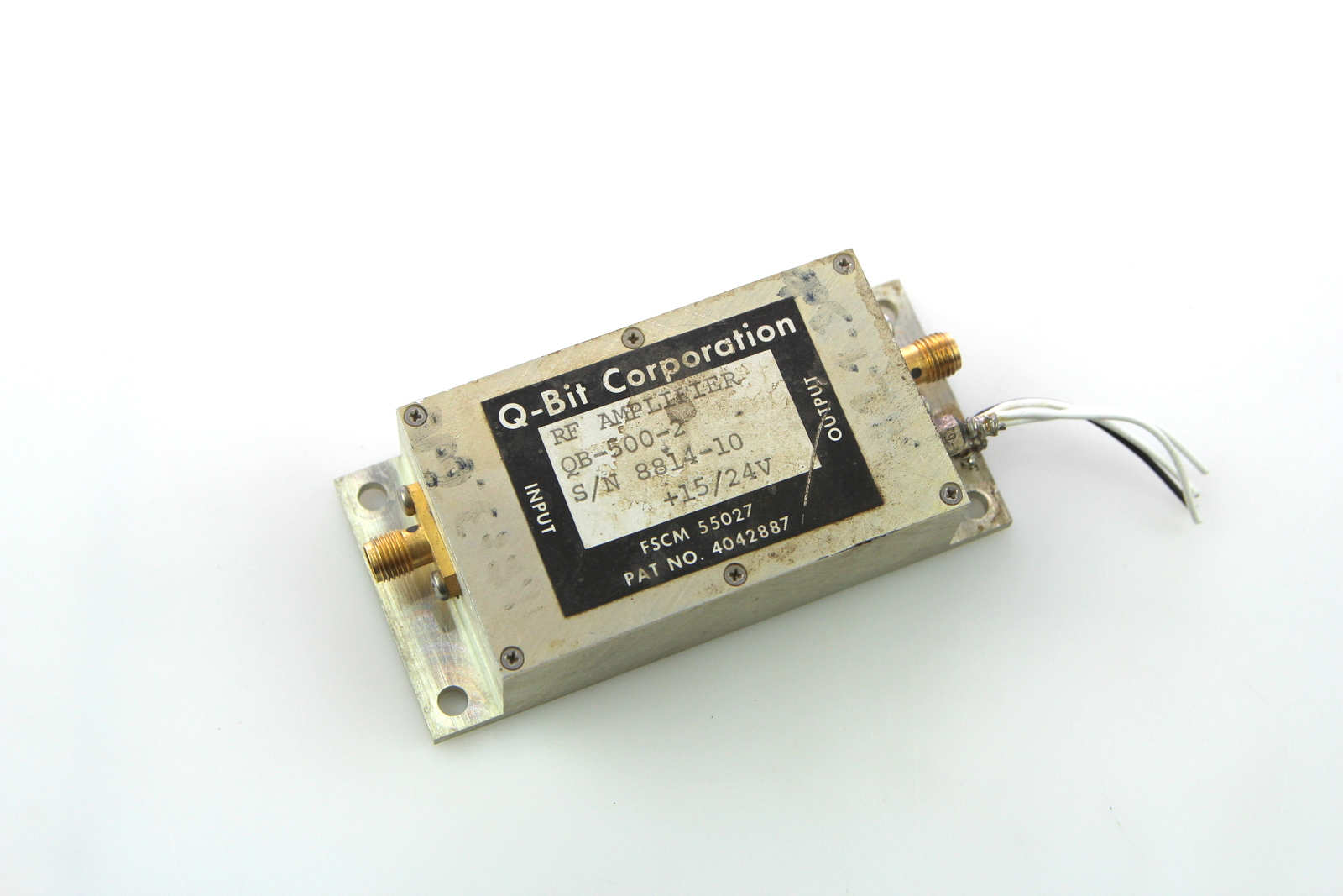 Details about Q-BIT RF AMPLIFIER QB-500-2 1- 700 MHz Gain: 20dB SMA