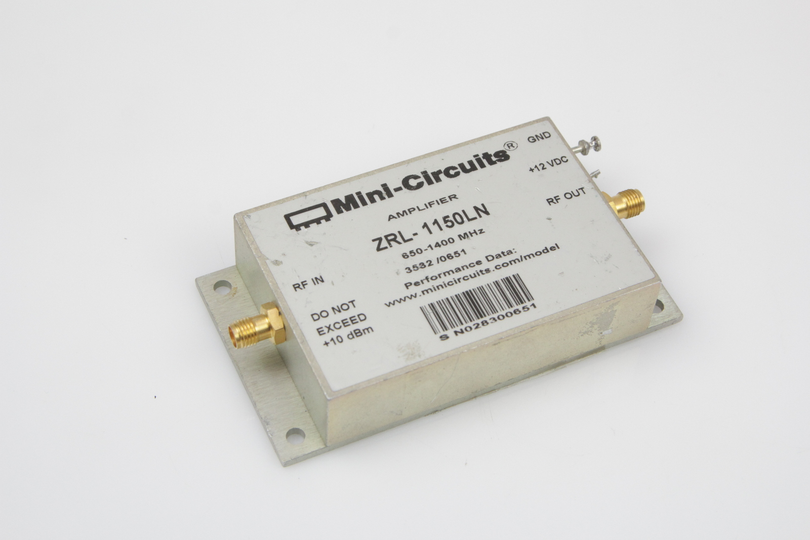 Mini-Circuits ZRL-1150LN 650-1400MHz SMA Low Noise Amplifier | eBay