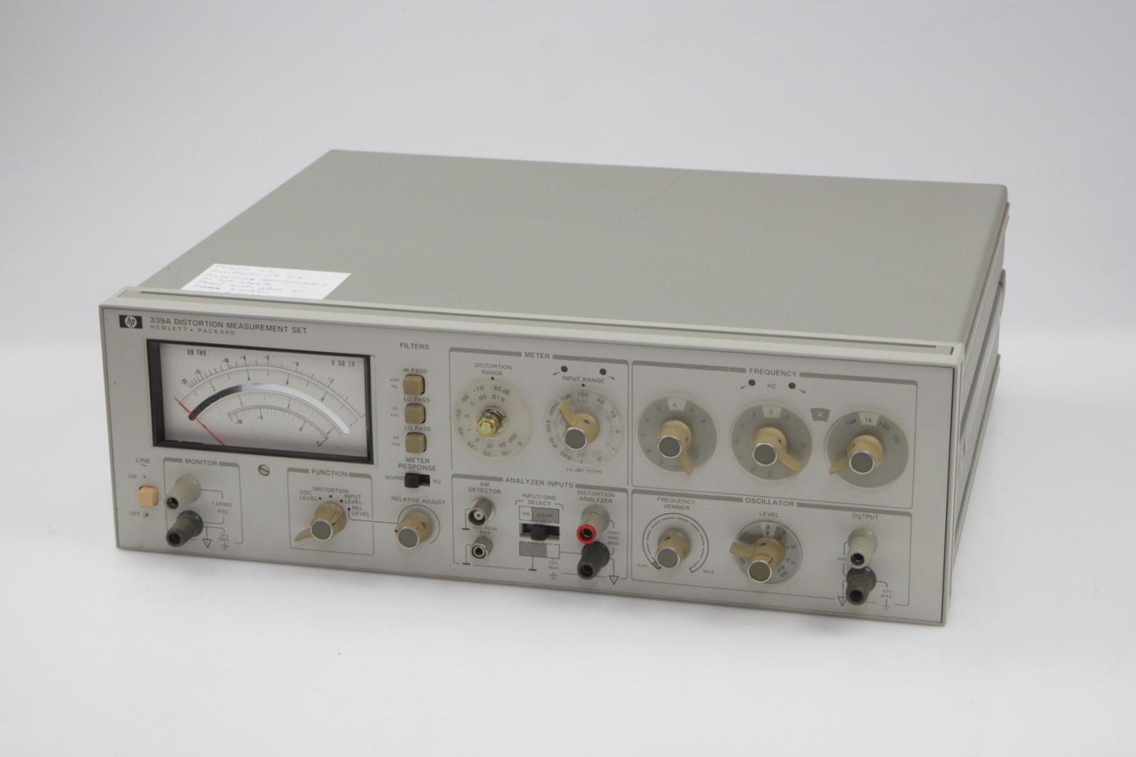 Details about Hp Hewlett Packard 339A Distortion Analyser #6
