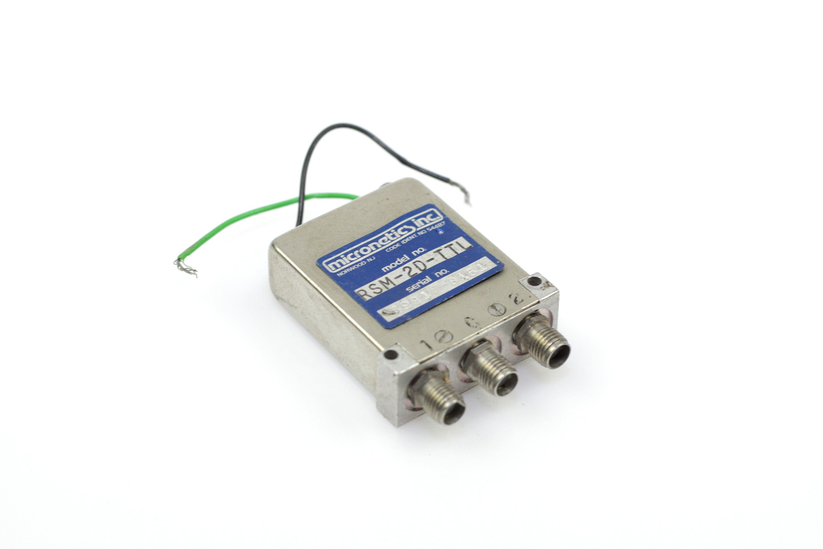 MICRONETICS COAXIAL RELAY RSM-2D-TTL 15VDC DC 12GHz