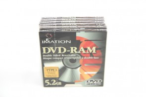 LOT OF 6  IMATION DV-RAM TYPE I 5.2GB