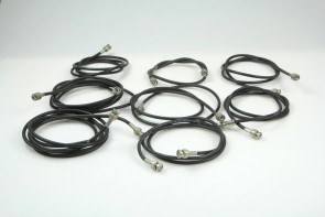 LOT OF 8 Coaxial RF Broadcast Video Cable any size