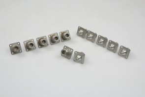 Lot of 12 N Type  (f) to SMA (f) Panel Mount Connector Adapter