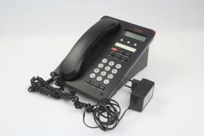 Avaya 1603SW-I BLK Global IP Phone 700458524 W/POWER ADAPTER