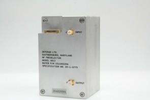 INTERAD HF PRESELECTOR MODEL:8812 P/N:1511002296