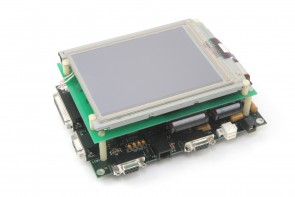 SHARP LM057QC1T01R LCD w/CE-PLUS-SC400,CE-MINUS-SC400 & LCD-PLUS-CLR BOARDS