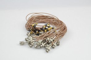 LOT OF 30 Cable BNC Male Plug To SMA Male Straight Crimp RG316