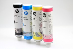 HP Q5390-00160 ElectroInk Calibration Cartridges Cyan,Magenta,Yellow,Black EXP 2014
