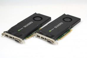 Lot of 2 HP 700104-001 NVidia K4000 3GB GDDR5 PCI-E DVI DP Graphics Card 713381-001