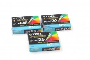 Lot Of 10 TDK DC4-125 4mm Data Cartridge