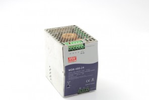 MW WDR-480-24 Switching Power Supply 200-500VAC,4A, 50/60Hz,OP: 24V, 20A